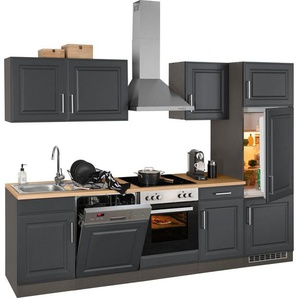 HELD MÖBEL Küchenzeile »Stockholm«, ohne E-Geräte, Breite 280 cm, mit hochwertigen MDF Fronten im Landhaus-Stil