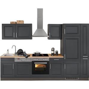 HELD MÖBEL Küchenzeile »Stockholm«, ohne E-Geräte, Breite 310 cm, mit hochwertigen MDF Fronten im Landhaus-Stil