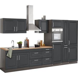 HELD MÖBEL Küchenzeile »Stockholm«, ohne E-Geräte, Breite 360 cm, mit hochwertigen MDF Fronten im Landhaus-Stil