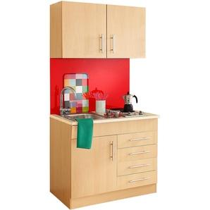 HELD MÖBEL Küchenzeile Toledo, mit E-Geräten, Breite 100 cm