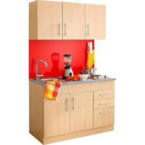 HELD MÖBEL Küchenzeile Toledo, mit E-Geräten, Breite 120 cm