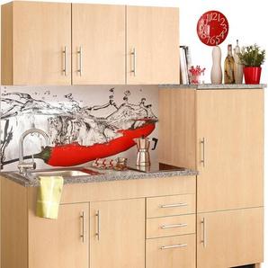 HELD MÖBEL Küchenzeile Toledo, mit E-Geräten, Breite 180 cm