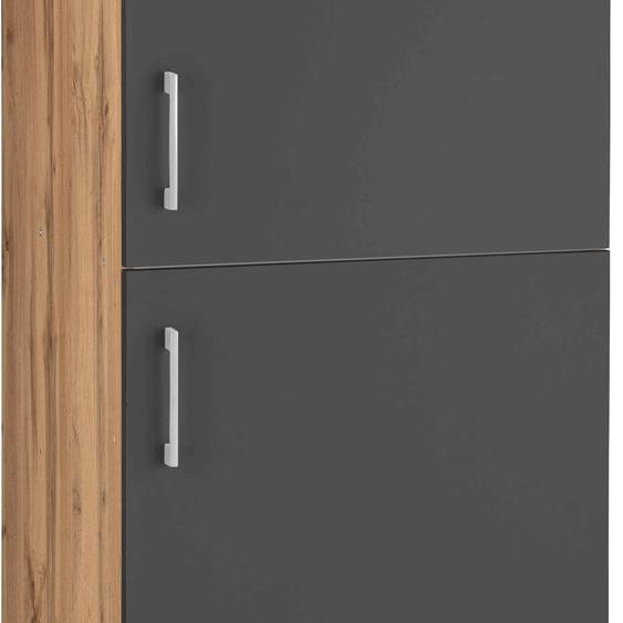 HELD MÖBEL Kühlumbauschrank Colmar 60 x 165 (B H T) cm grau Umbauschränke Küchenschränke Küchenmöbel Schränke
