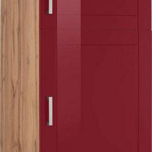 HELD MÖBEL Kühlumbauschrank »Tinnum« 60 cm breit, 200 cm hoch, Metallgriffe, MDF Fronten, für Einbau-Kühlschrank mit Nischenmaß 88 cm