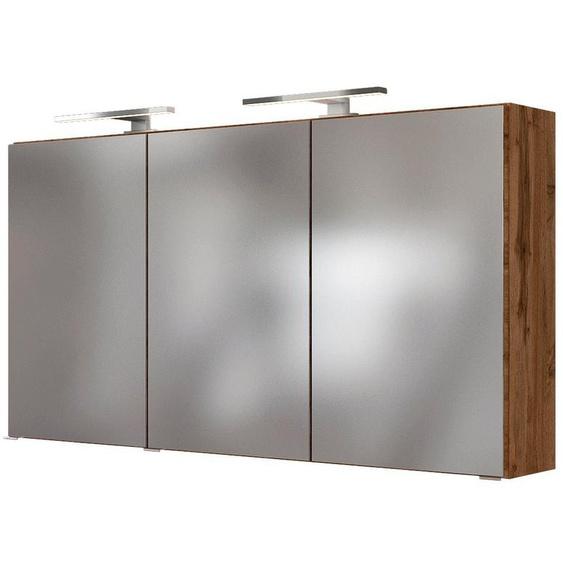 HELD MÖBEL Spiegelschrank »Baabe« Breite 120 cm, mit 3D-Effekt, dank 3 Spiegeltüren