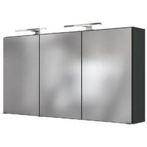 Held-Möbel Spiegelschrank, Grau 120 cm