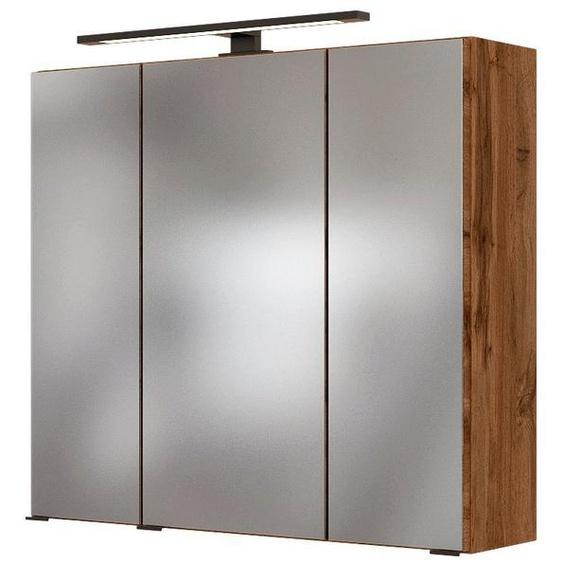 HELD MÖBEL Spiegelschrank »Luena« Breite 70 cm, mit 3D-Effekt, dank drei Spiegeltüren