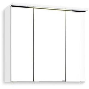 Held-Möbel Spiegelschrank, Weiß, Kunststoff 70 cm