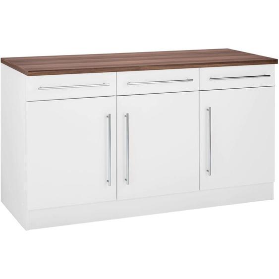 HELD MÖBEL Unterschrank Keitum B/H/T: 150 cm x 86 60 weiß Unterschränke Küchenschränke Küchenmöbel