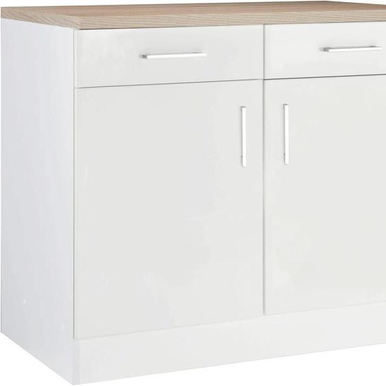 HELD MÖBEL Unterschrank Utah, Breite 100 cm B/H/T: x 85 60 weiß Unterschränke Küchenschränke Küchenmöbel