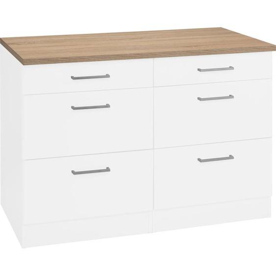 HELD MÖBEL Unterschrank Visby, Breite 120 cm B/H/T: x 85 60 weiß Unterschränke Küchenschränke Küchenmöbel