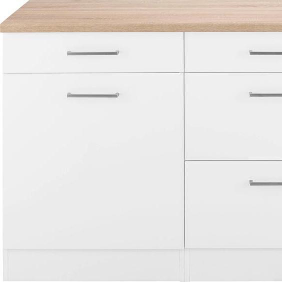 HELD MÖBEL Unterschrank Visby, Breite 180 cm B/H/T: x 85 60 weiß Unterschränke Küchenschränke Küchenmöbel