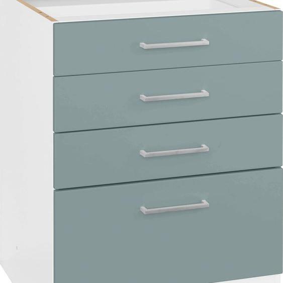 HELD MÖBEL Unterschrank Visby, Breite 60 cm B/H/T: x 82 grün Unterschränke Küchenschränke Küchenmöbel