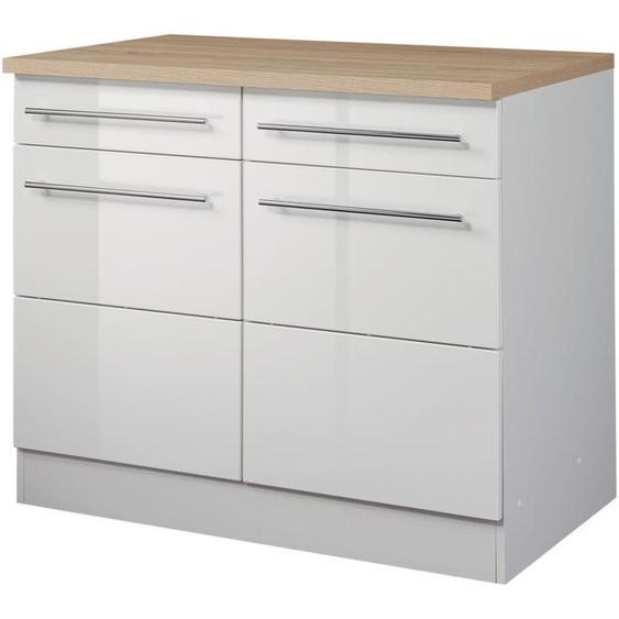 HELD MÖBEL Unterschrank Wien, Breite 100 cm, 2 Türen, Schubkästen, für viel Stauraum B/H/T: cm x 85 60 weiß Unterschränke Küchenschränke Küchenmöbel