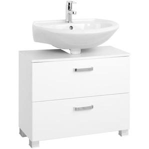 Held-Möbel Waschbeckenunterschrank, Weiß, Lack / Hochglanz 70 cm