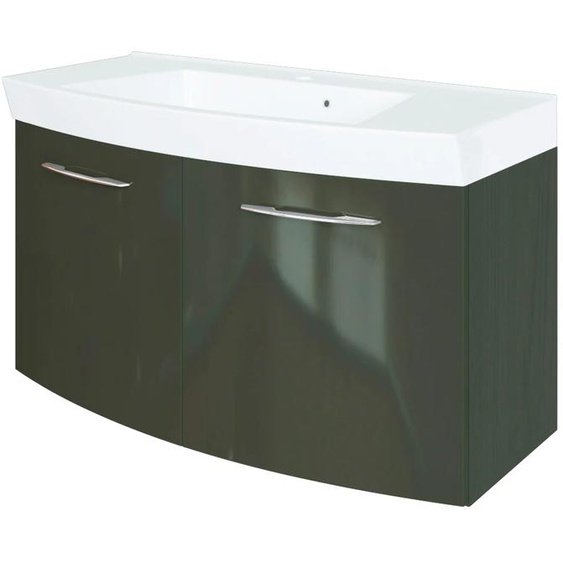 HELD MÖBEL Waschtisch Florida, Breite 100 cm, gebogen cm x 54 grau Waschtische Badmöbel