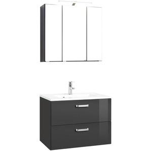 Held-Möbel Waschtisch-Set, Grau