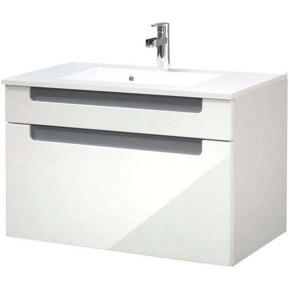 HELD MÖBEL Waschtisch Siena, Breite 80 cm x 54 grau Waschtische Badmöbel