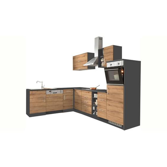 HELD MÖBEL Winkelküche »Colmar«, mit E-Geräten, Stellbreite 210/300 cm, Energieeffizienz: C