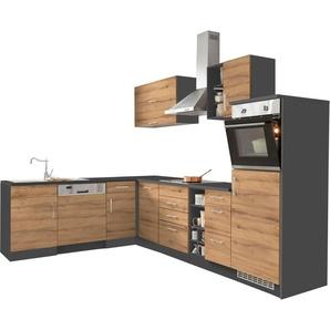 HELD MÖBEL Winkelküche »Colmar«, mit E-Geräten, Stellbreite 210/300 cm