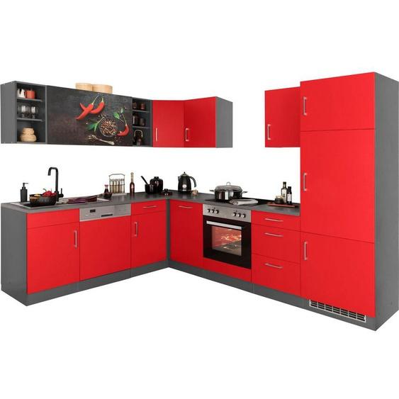 HELD MÖBEL Winkelküche »Paris«, ohne E-Geräte, Stellbreite 220/280 cm
