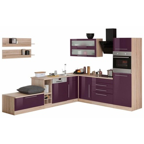 HELD MÖBEL Winkelküche »Samos«, ohne E-Geräte, Stellbreite 300 x 250 cm
