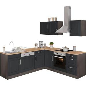 HELD MÖBEL Winkelküche »Stockholm«, ohne E-Geräte, Stellbreite 220/220 cm, mit hochwertigen MDF Fronten im Landhaus-Stil