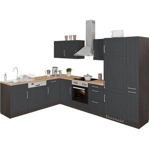 HELD MÖBEL Winkelküche »Stockholm«, ohne E-Geräte, Stellbreite 220/310 cm, mit hochwertigen MDF Fronten im Landhaus-Stil