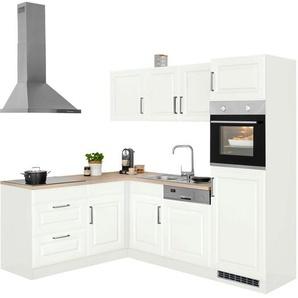 HELD MÖBEL Winkelküche »Stockholm«, ohne E-Geräte, Stellbreite 230/170 cm, mit hochwertigen MDF Fronten im Landhaus-Stil