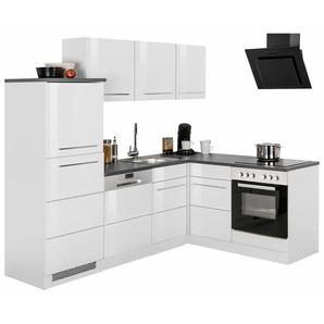 HELD MÖBEL Winkelküche mit E-Geräten »Trient«, Stellbreite 230/170 cm mit zweifarbigen Fronten