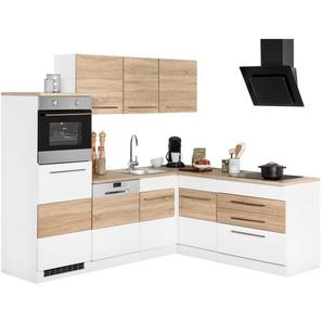 HELD MÖBEL Winkelküche mit E-Geräten »Trient«, Stellbreite 230/190 cm in zweifarbigen Fronten