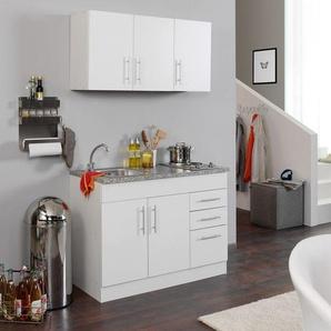 HELD Singleküche »Toronto«, B 120 cm, 2er Kochmulde, 2 Hängeschränke, Spülenschrank