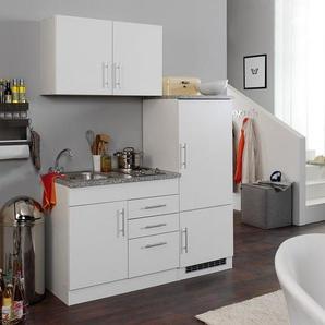 HELD Singleküche »Toronto«, B 160 cm, 2er Kochmulde, inklusive Kühlschrank