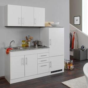 HELD Singleküche »Toronto«, B 180 cm, 2er Kochmulde, inklusive Kühlschrank