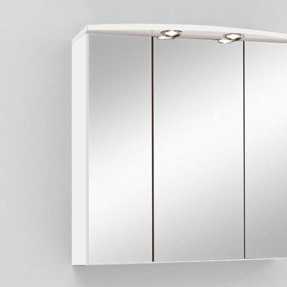 HELD Spiegelschrank »Denver«, mit 3 Spiegeltüren, 6 Einlegeböden, 2 Halogen-Einbaustrahler
