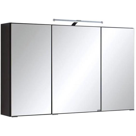 HELD Spiegelschrank »Florida«, mit 3 Spiegeltüren, 6 Glas-Einlegeböden, 1 Aufbauleuchte