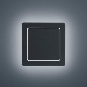 Helestra Fogo LED Außenwandleuchte, eckig, Rückläufer