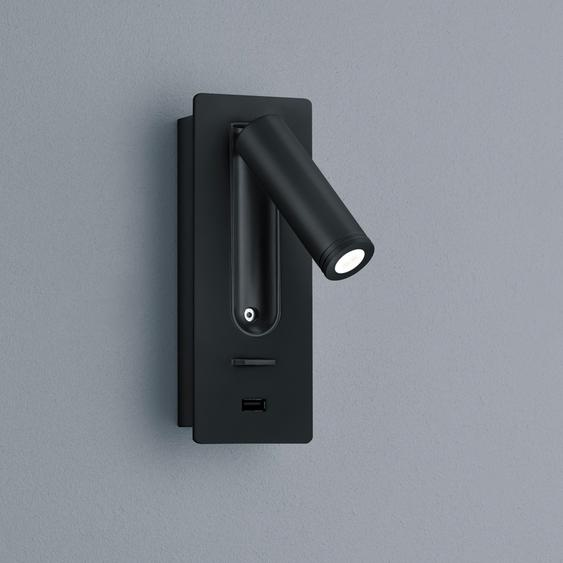 Helestra Orso Wandleuchte mit USB-Ladeport