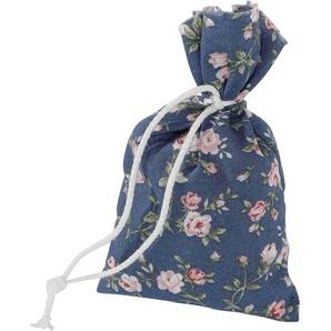 Herbalind Duftkissen »4er Set Duftbeutel Rosenblüten Rosendruck blau«, Bezug 100% Baumwolle, bunt