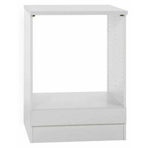 Herdumbauschrank Klassik 60 Weiß 60 cm