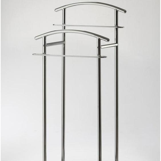 Herren-Diener, 43x114x30 cm (BxHxT), GGG MÖBEL, silber