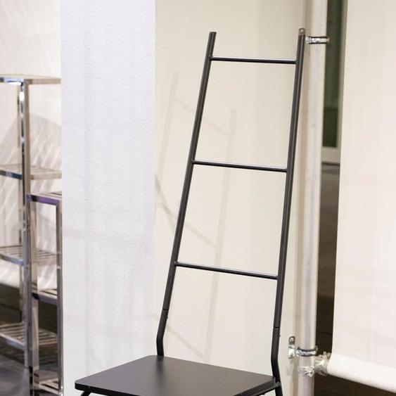 Herrendiener, 43x137x49 cm (BxHxT), GGG MÖBEL, schwarz, Material MDF