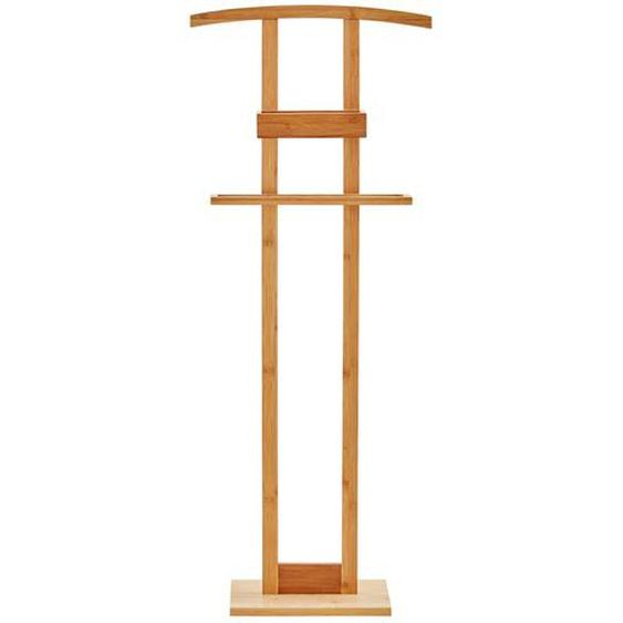 Herrendiener mit Ablage - holzfarben - Holz | Möbel Kraft