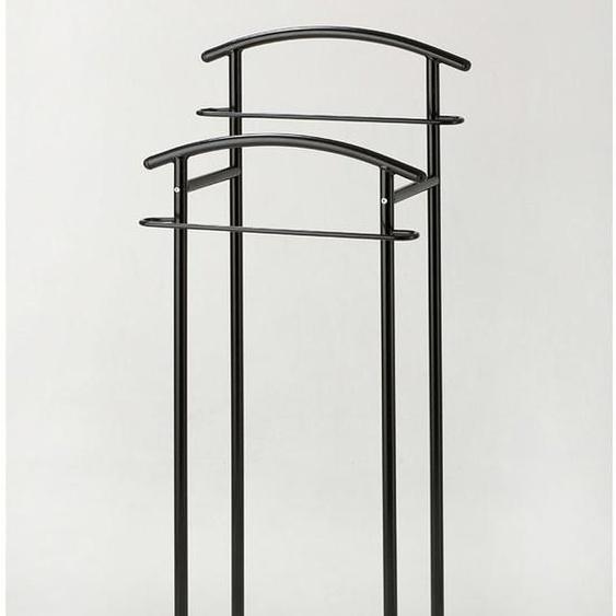 Herrendiener, 43x114x30 cm (BxHxT), GGG MÖBEL, schwarz