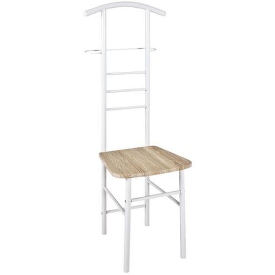 Herrendienerstuhl - weiß - Stahl | Möbel Kraft