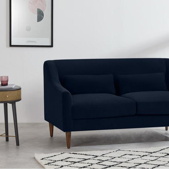 Herton 2-Sitzer Sofa, Samt in Tintenblau
