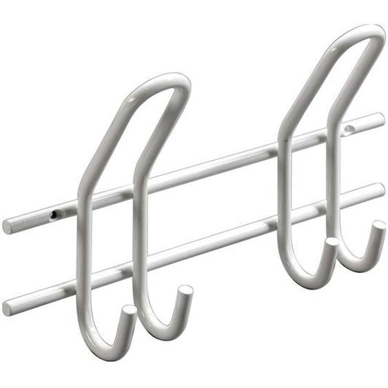 Hettich Garderobenleiste Weiß 2 Doppel-Haken