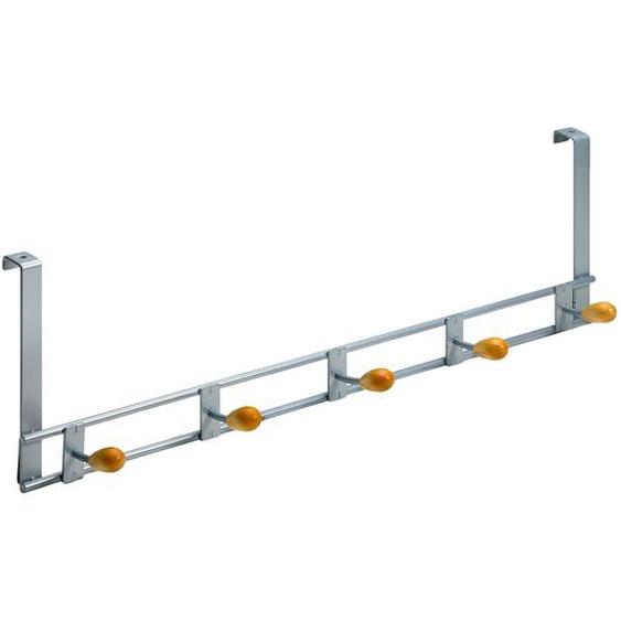 Hettich Türhängegarderobe Holz/Aluminium-Optik 5 Haken