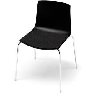 Hey-Sign - Sitzauflage Catifa 46 - 02 schwarz mit Antirutsch - indoor