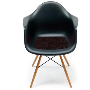 Hey-Sign - Sitzauflage Eames Plastic Armchair - 27 schoko mit Antirutsch - indoor